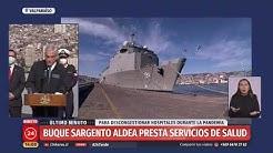 Presidente Piñera visita Buque Sargento Aldea