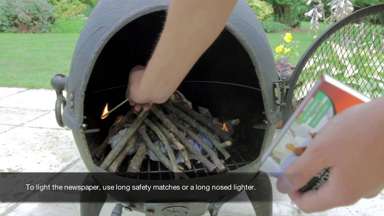 How To Light A Fire In Your Cast Iron Chimenea