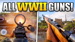 GAMEPLAY OF ALL WEAPONS (SO FAR) IN COD WW2!