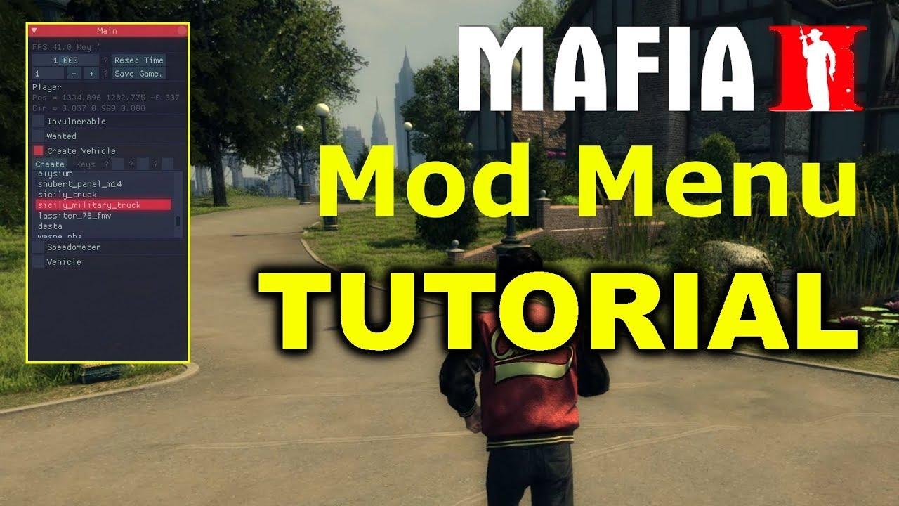 Mafia 2 Mods - Trainer Mod Menu TUTORIAL
