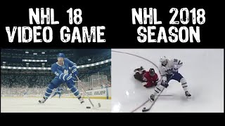 New Mitch Marner EA Sports NHL 18 Trailer   Split Screen With Identical Mitch Marner Actual NHL Goal
