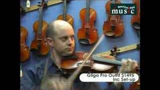 Whitehorse Music review to violins paesold 800 and gliga pro