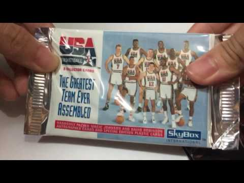 1992 Skybox USA Dream Team Card Pack Opening