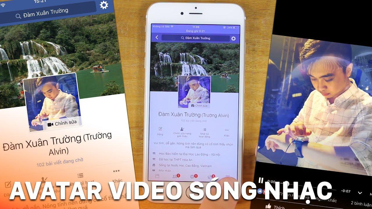 Tạo video avatar facebook sóng nhạc bằng điện thoại chất lừ