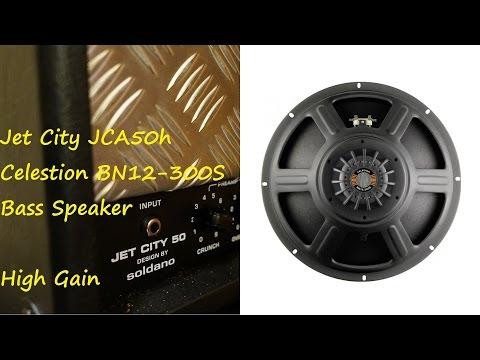 Jet City JCA50h - Celestion BN12-300S bass speaker - Metal - Gibson Les paul Bare Knuckle warpig