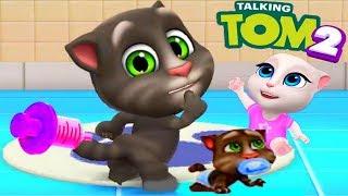 Мой Говорящий Том 2 НОВАЯ ИГРА #8 Друзья Анджела Хомяк My Talking Tom 2 Игровой мультик для детей