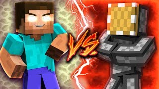 Herobrine VS Redstone Genius - Minecraft