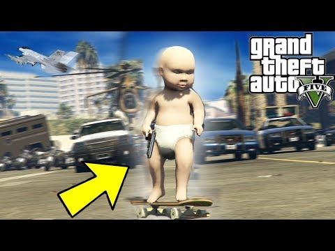 JOGANDO GTA 5 COM UM BEBE DE 9 MESES!!! GTA 5 Mods thumbnail