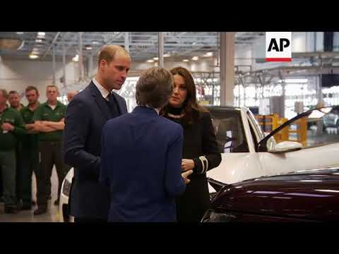 Prince William and Kate visit Jaguar Land Rover factory
