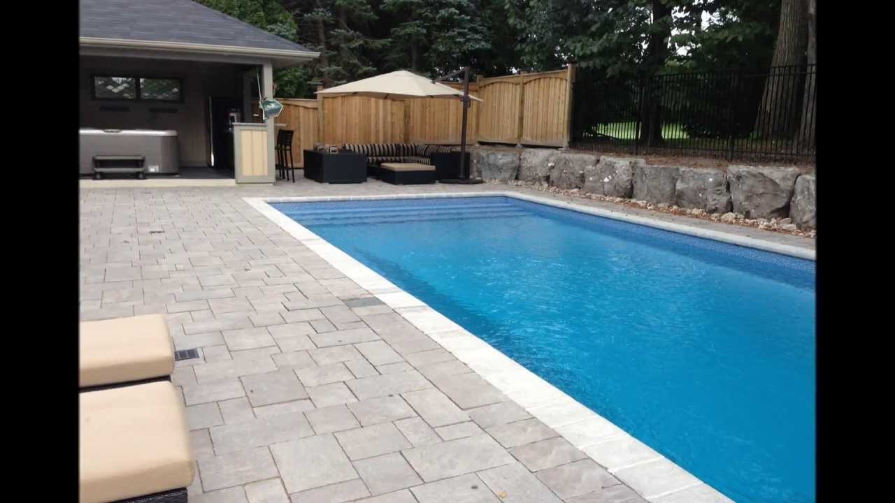 complete construction of 16x34 rectangle pool youtube - Rectangle Pool