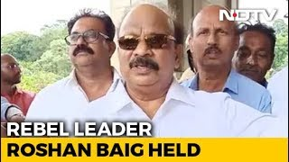 Rebel Congress Leader Detained At Bengaluru Airport In IMA Case
