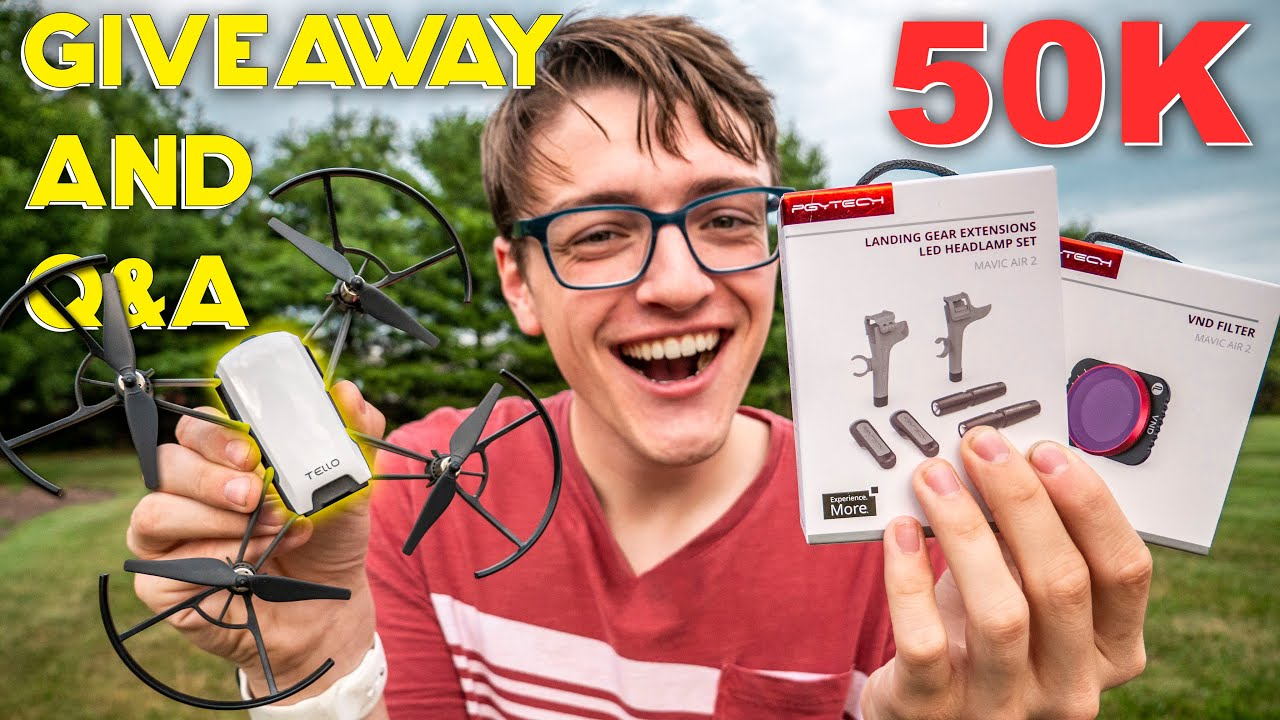 50,000 Subscribers! DRONE & ACCESSORIES GIVEAWAY, Q&A, & Background Story of This Channel!