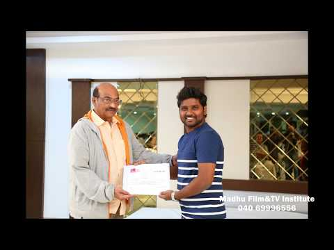 Certification for Acting and Direction Course Students | Madhu Film Institute | Kodanda Ramireddy