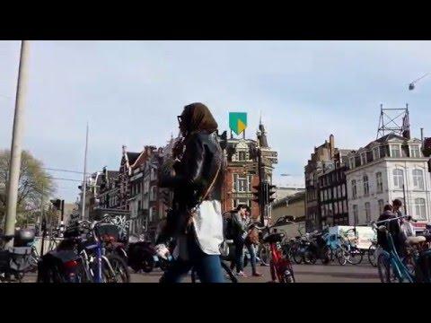 Muntplein amsterdam at dusk netherland