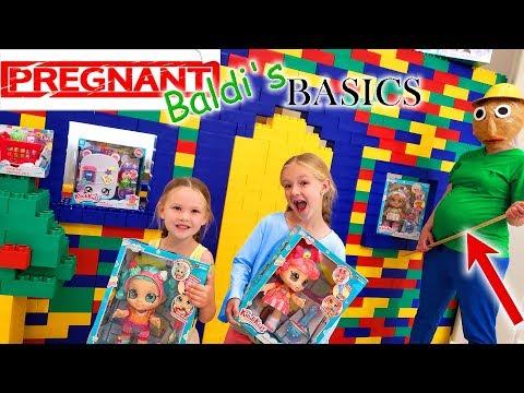 Pregnant Baldi's Basics in Real Life Kindi Kids Toy Scavenger Hunt!