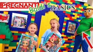 Pregnant Baldi's Basics in Real Life Kindi Kids Toy Scavenger Hunt!