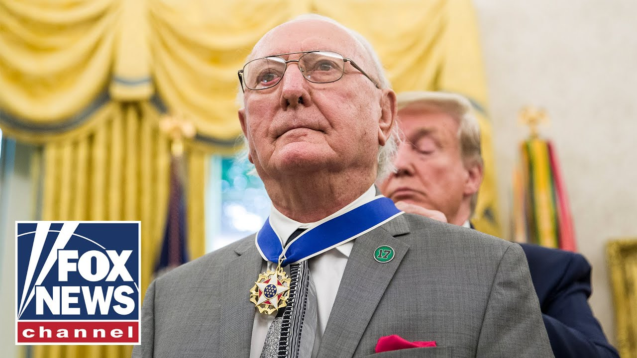 Trump presents the Presidential Medal of Freedom to Robert Cousy