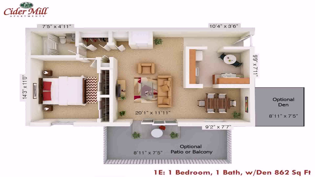 2 Bedroom House Plans With Den - YouTube on house plans with a lanai, house plans with a back view, house plans with a craft room, house plans with a sunroom, house plans with a vestibule, house plans with a library,
