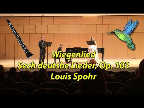 Wiegenlied by Louis Spohr- Lullaby with Clarinet