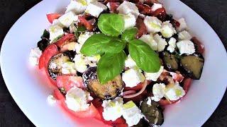 Летний салат из баклажанов с рассольным сыром - никогда не бывает много!