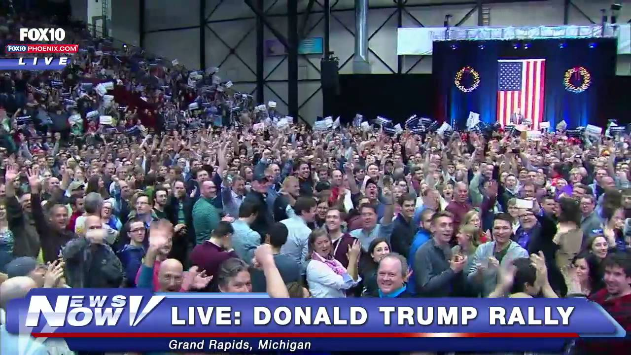 ... Cameras At The Donald Trump Rally In Grand Rapids, Michigan - YouTube