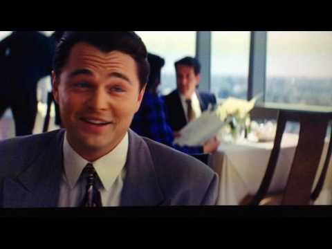 The Wolf Of Wall Street Leonardo Di Caprio and  Matthew McConaughey Restaurant Scene