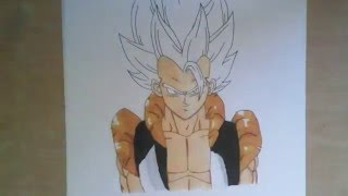 Drawing Super Saiyan Gogeta