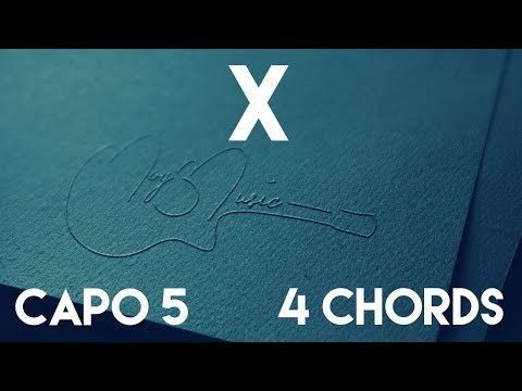 How To Play X by Nicky Jam & J Balvin | Capo 5 (4 Chords) Guitar Lesson