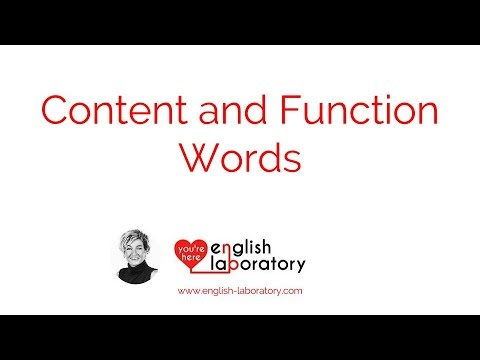 content function words youtube