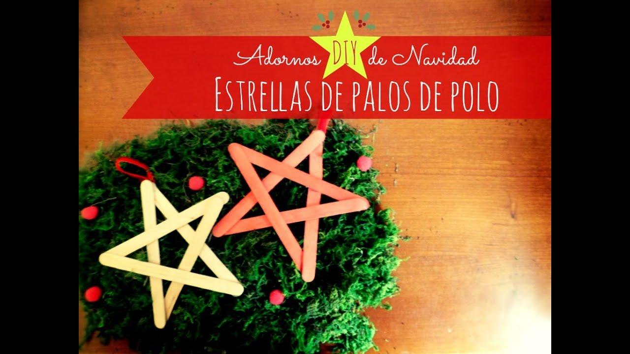 Manualidades adorno diy de navidad estrellas con palos - Adorno de navidad manualidades ...
