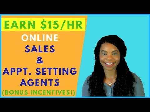 Now Hiring Sales Agents & Appointment Setters! Online, Remote Work From Home Jobs | January 2019