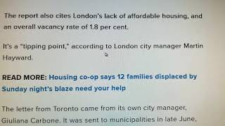 London Ontario shelters Crisis 🏤🏣🏢