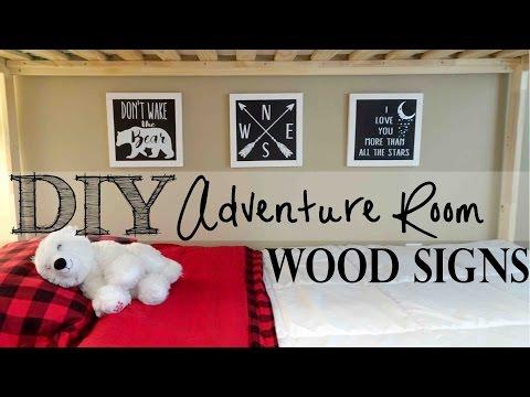 DIY Adventure Room Wood Signs | Applying Vinyl