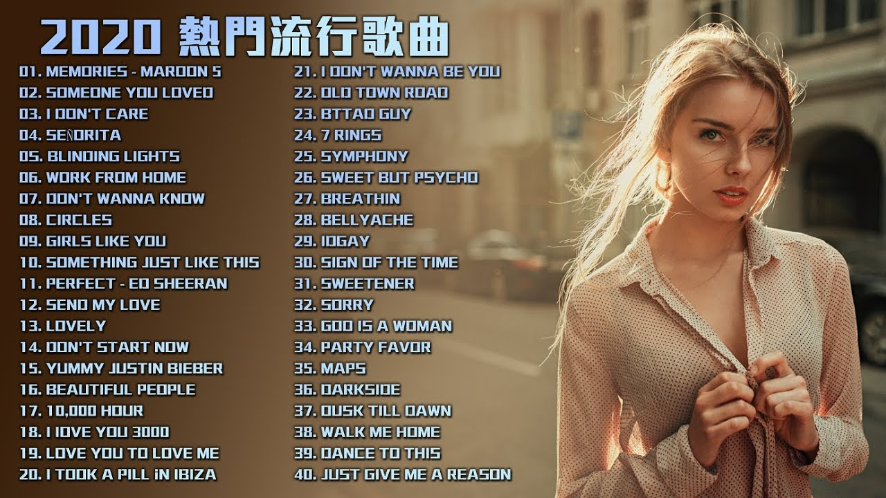 #2020英文歌 | Best English songs 2020 | 2020年度西洋流行歌曲排行榜2020 | KKBOX西洋人氣排行榜