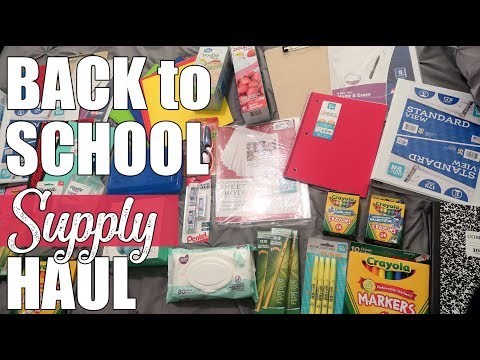 Walmart Back to School Supply Haul | School Supplies 2019 | 1st and 2nd Grade