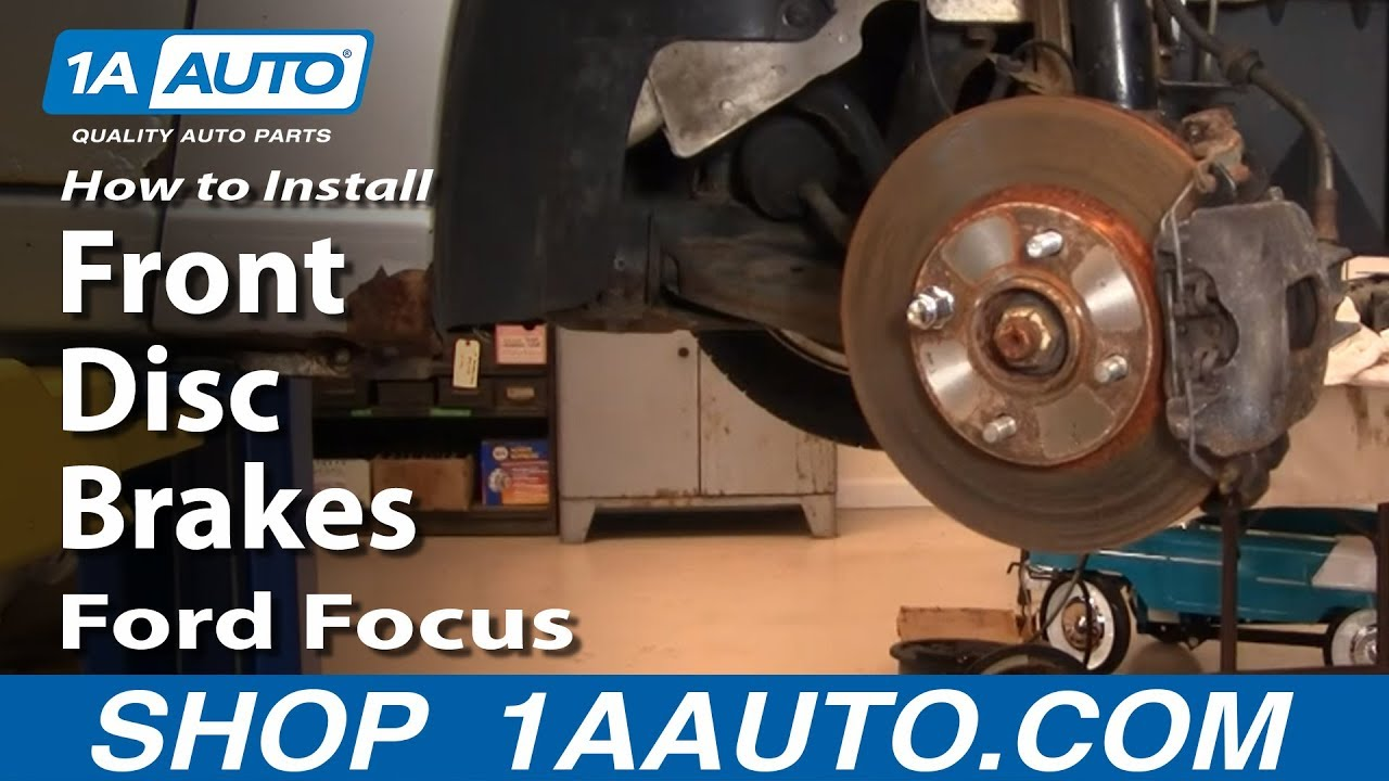 how to install replace front disc brakes ford focus 00 04. Black Bedroom Furniture Sets. Home Design Ideas