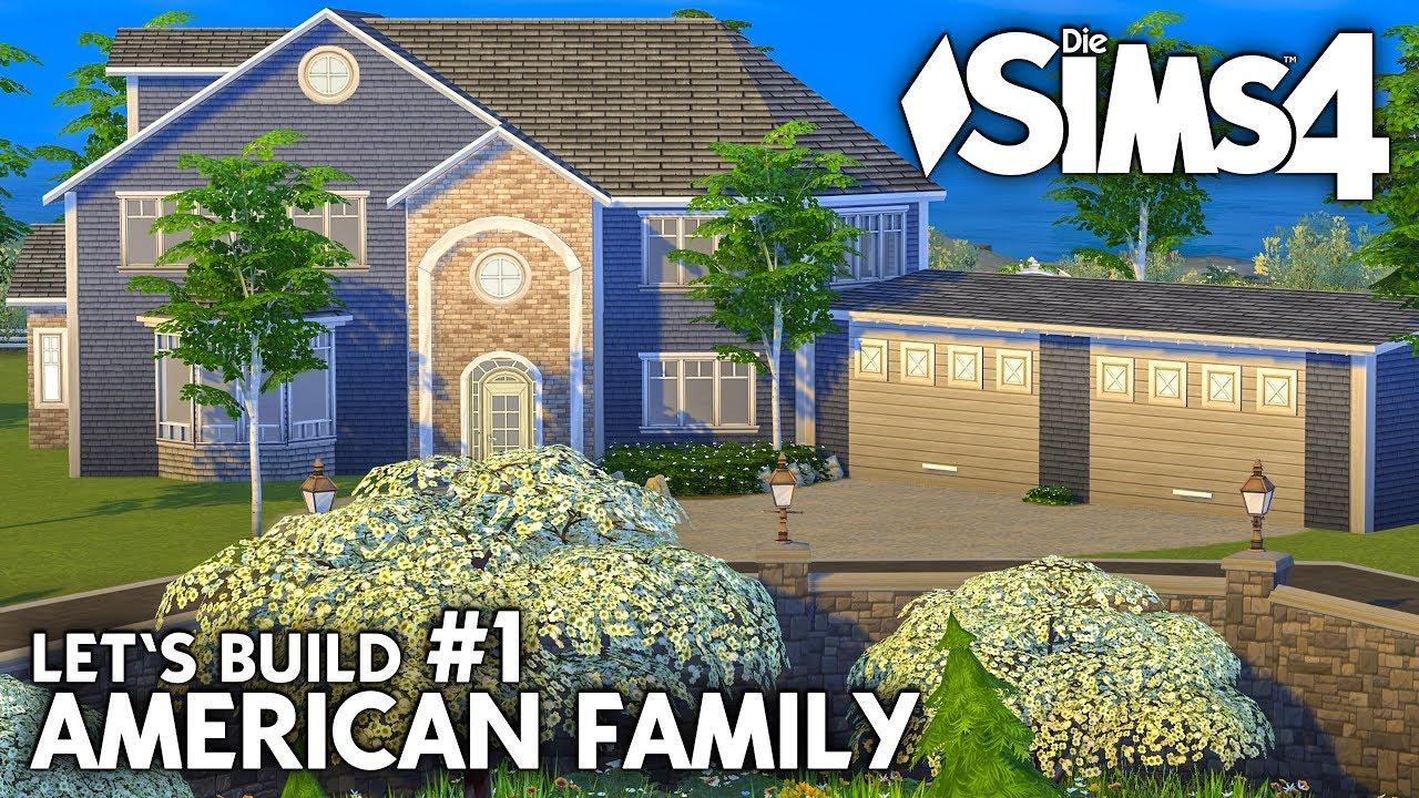 die sims 4 haus bauen american family 1 grundriss deutsch youtube. Black Bedroom Furniture Sets. Home Design Ideas