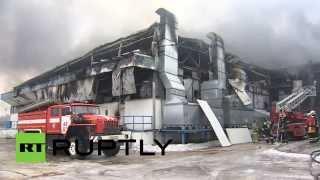 В Новой Москве сгорел мясокомбинат
