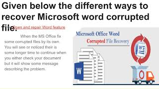 Microsoft Word Corrupted File Recovery
