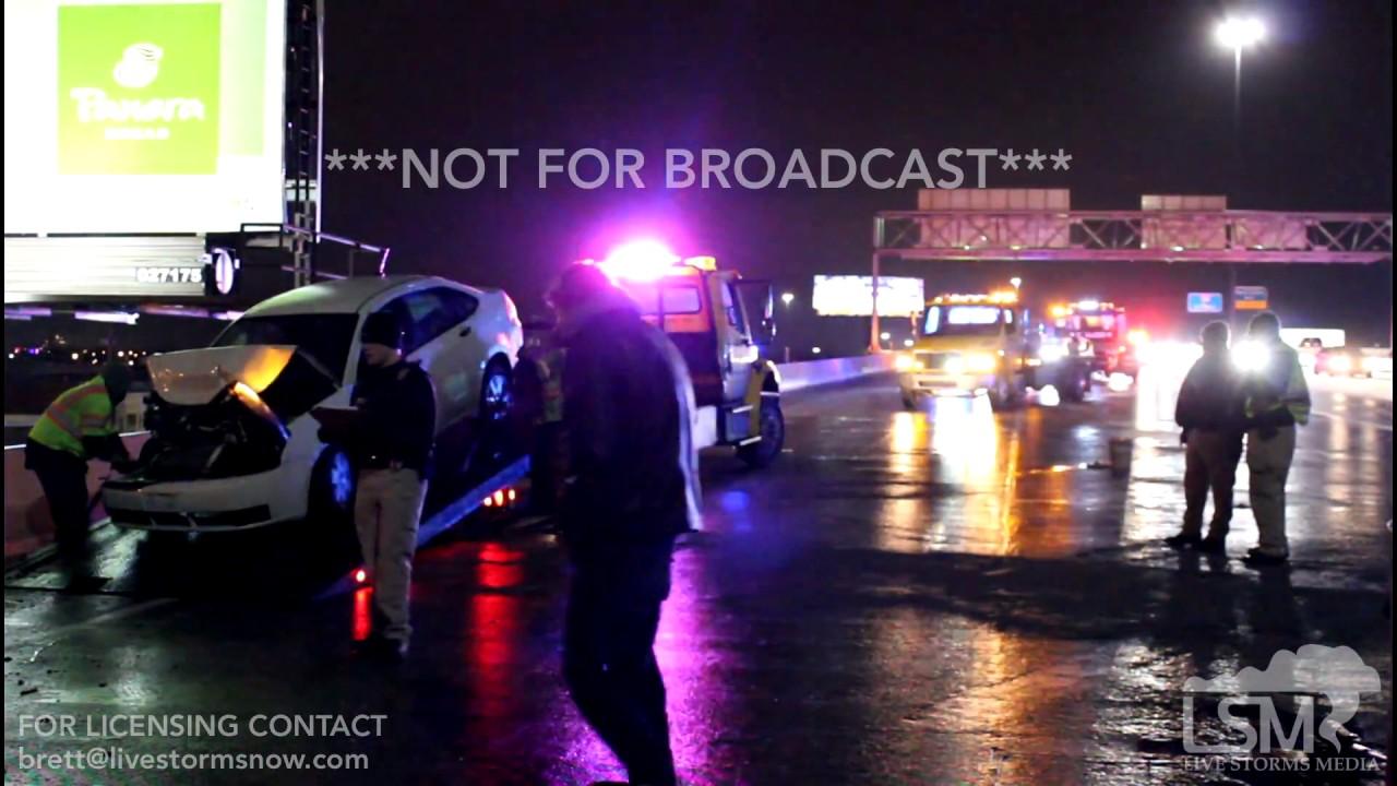 01-13-2017 Wichita, Kansas Freezing Rain 20 CAR HIGHWAY PILE UP