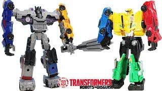 MEGA Transformers Robots in Disguise Ultra Bee Adventures! W/ Bumblebee, Grimlock, Sideswipe & More!