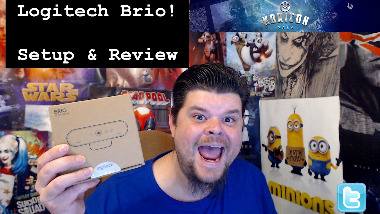a37bfcb4862 Logitech Brio Setup & Review Compared to the Logitech c920 - YouTube