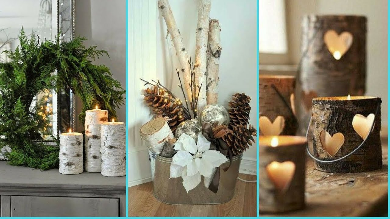 DIY Shabby Chic Style Birch Wood Decor Ideas