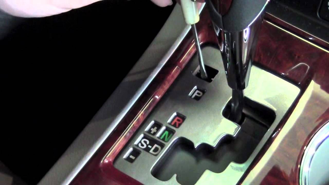 2012 Toyota Highlander Shift Lever Release How To