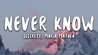 Download lagu Discrete Never Know ft Maria Mathea