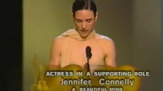 Jennifer Connelly winning Best Supporting Actress for A Beautiful Mind
