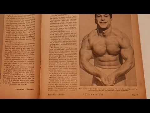 Dan Lurie challenges John Grimek! Your Physique magazine 1946 January Part C