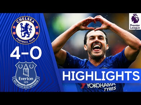 Chelsea 4-0 Everton | Superb Chelsea Spoil Ancelotti's Return! | Premier League Highlights