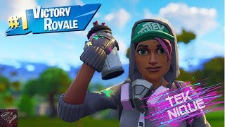 Getting A Victory Royale With The Teknique Skin (Fortnite Battle Royale)
