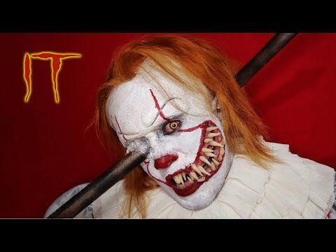 Pennywise With Pole Iron - Makeup Tutorial (IT Chapter 1)